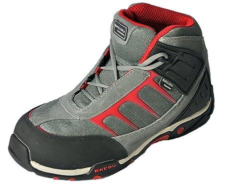 NN Marken Arbeits und Sicherheitsschuhe Stiefel S1P EN345 in Rot Schwarz