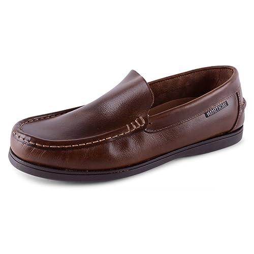 para Hombre Azul Marino Marrón marrón Yachtsman Piel de Nobuck Hombre Slip On Deck Shoes,