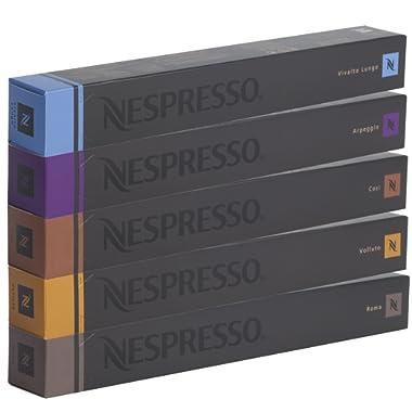 50 Nespresso OriginalLine (10 x VOLLUTO, 10 x ROMA, 10 x COSI, 10 x VIVALTO LUNGO, 10 x ARPEGGIO) - ''NOT compatible with Vertuoline''