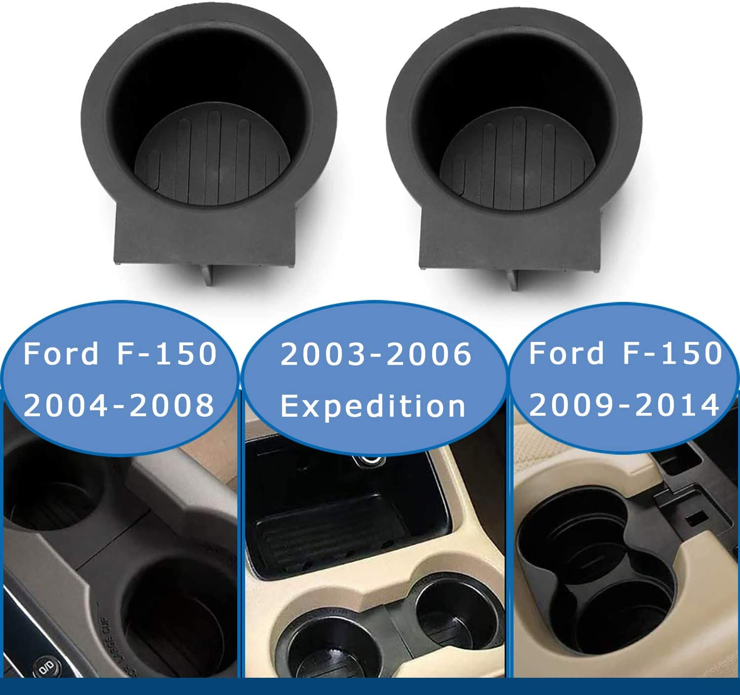For Ford F-150 2004-2014 Dorman 41008 Front Cup Holder Insert