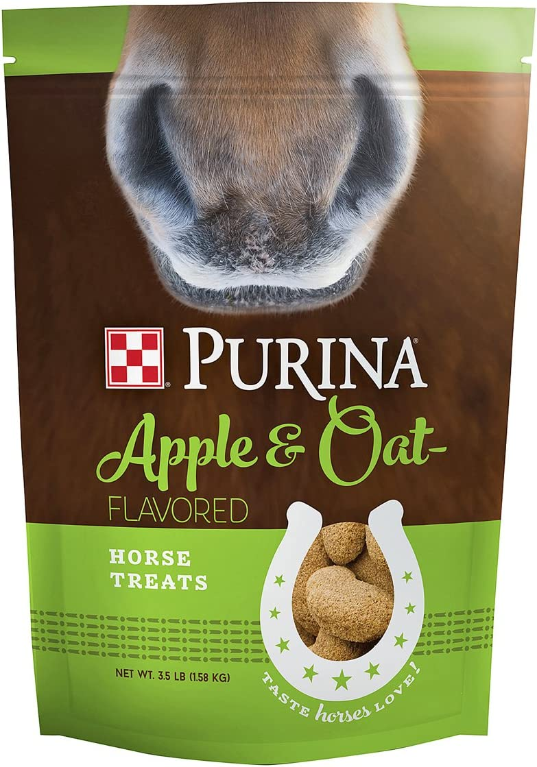 Purina Trea Apple and Oat Flavored Horse Treats, 3.5 lb Bag