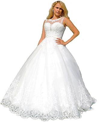 Luxus Brautkleid Hochzeitskleid NEU Braut Spitze mit Träger ...