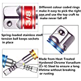 CIGOTU 1/4-Inch Hex Socket Drive Adapters with
