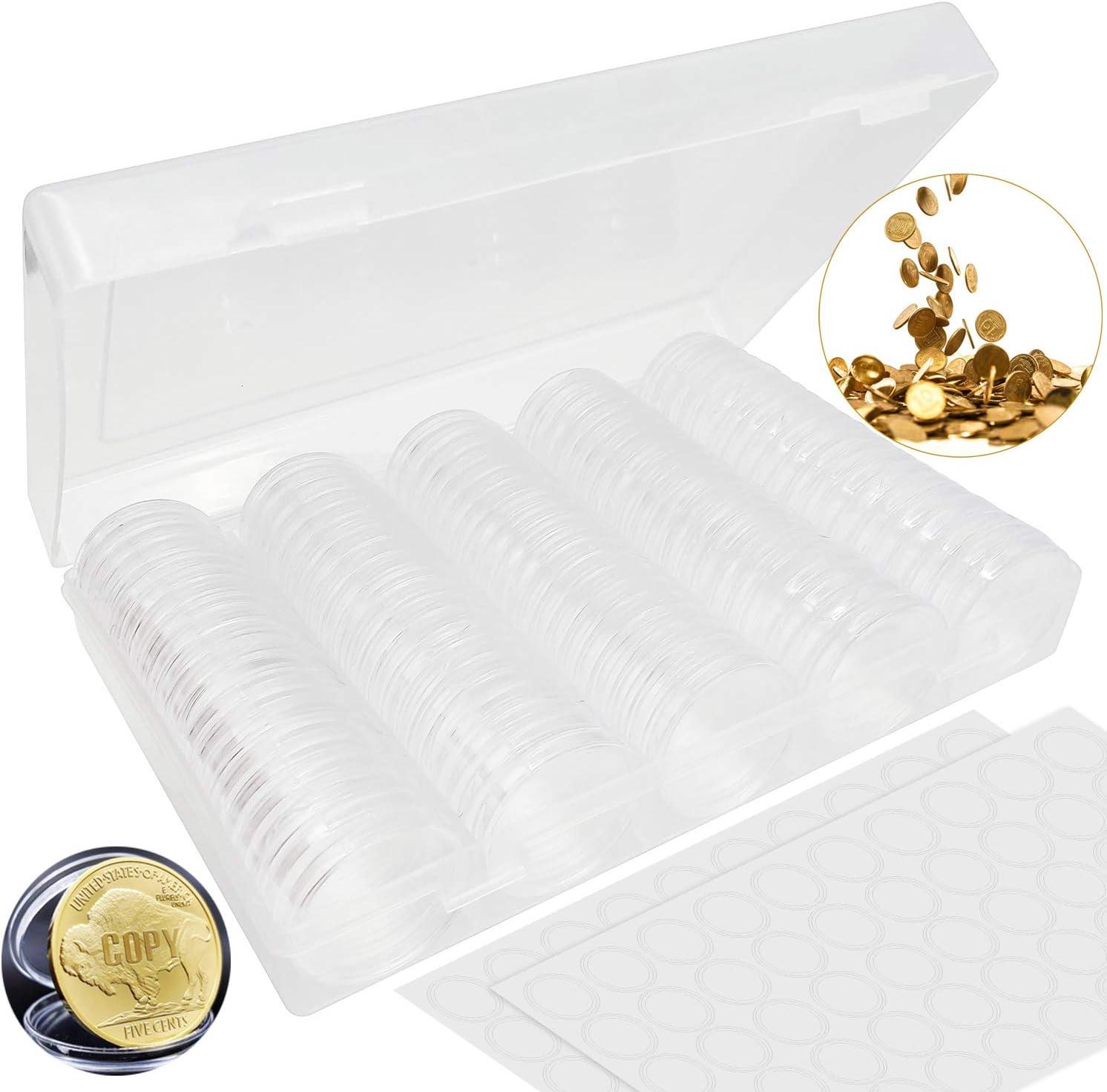 contenenti 100 guarnizioni in schiuma utilizzate per conservare varie monete commemorative. N//C rotonde da 30 mm 100 capsule per monete