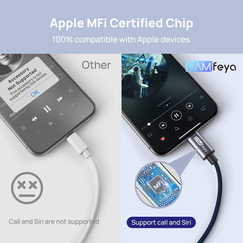 Damfeya Lightning To 3 5 Mm Headphone Adapter Elektronik