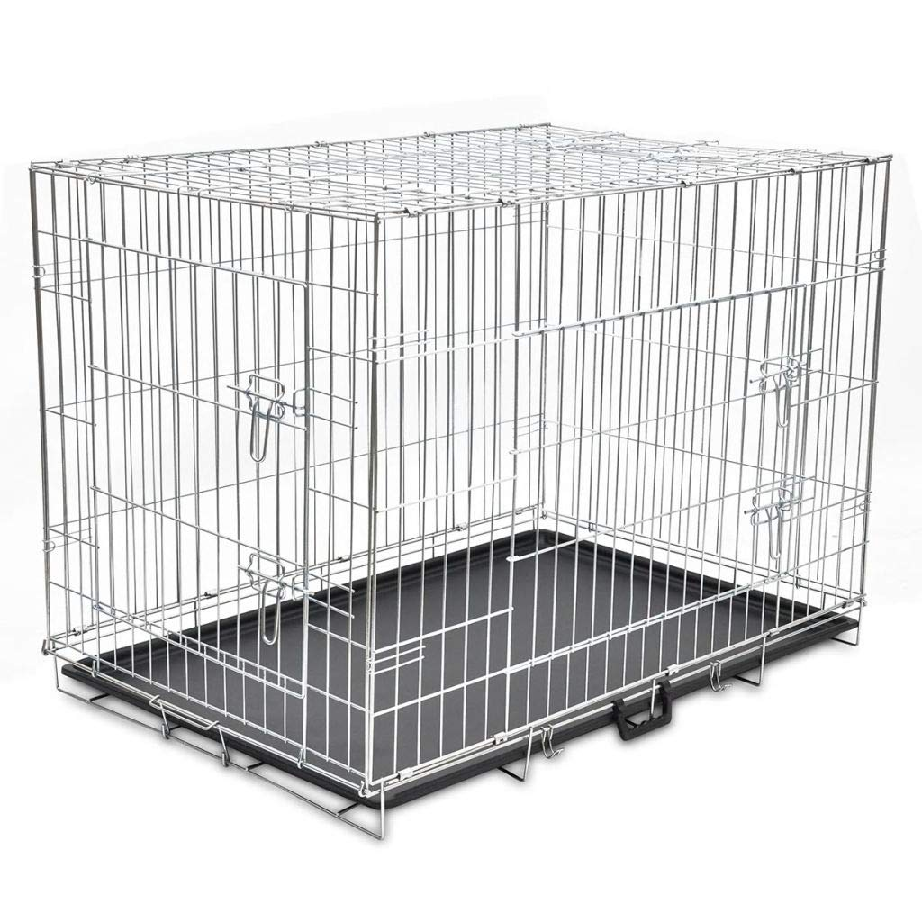 XL 43  XL Dog Cage Crate Pet Kennel Puppy Cat Rabbit Metal Collapsible House