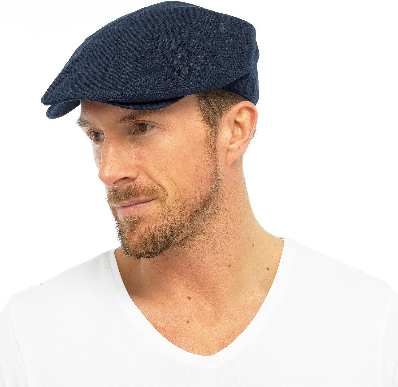 Tom Franks Summer Peak - Gorra plana con forro de algodón para hombre