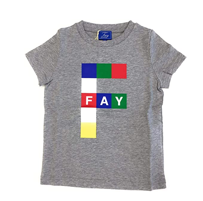 official photos db56f c6c92 Fay Bambino B238767JQSA Grigio T-Shirt Estate: Amazon.it ...