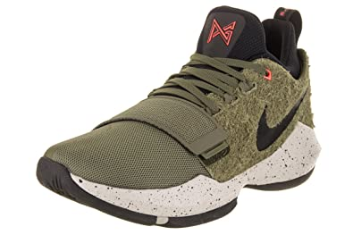3755c174cd29 NIKE Men s PG 1 Elements Medium Olive Black Basketball Shoe 8 Men US