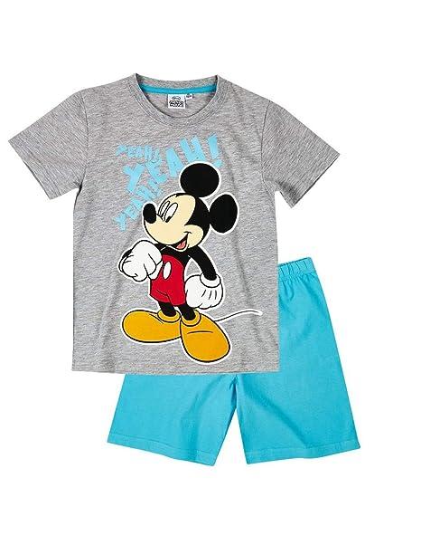 Mickey Mouse - Pijama dos piezas - para niño gris/azul 6 años