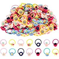 60 Pcs Girl Hair Ties,AMMY Rubber Bands Elastic No Damage Colorful Soft Pigtail Holders for Infants Toddlers Kids Little…