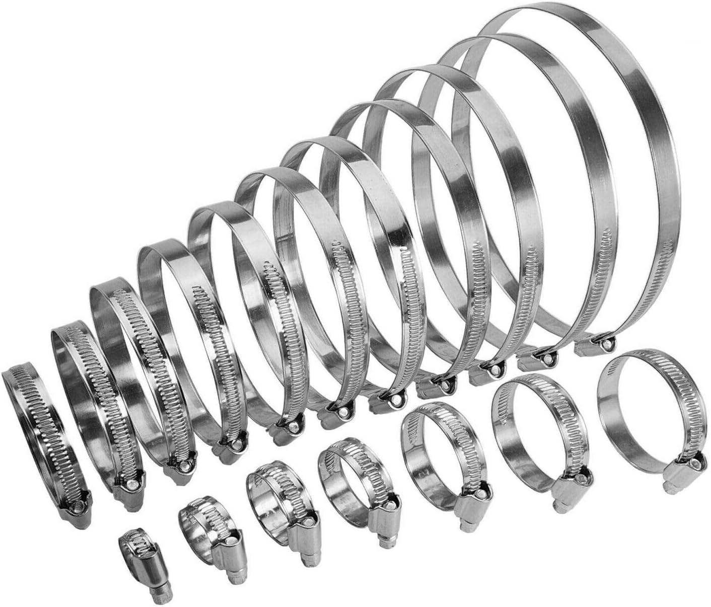 Spannbereich 50-70 mm 5 St/ück Schlauchschellen Edelstahl V4A W5 DIN 3017 Bandbreite 9 mm