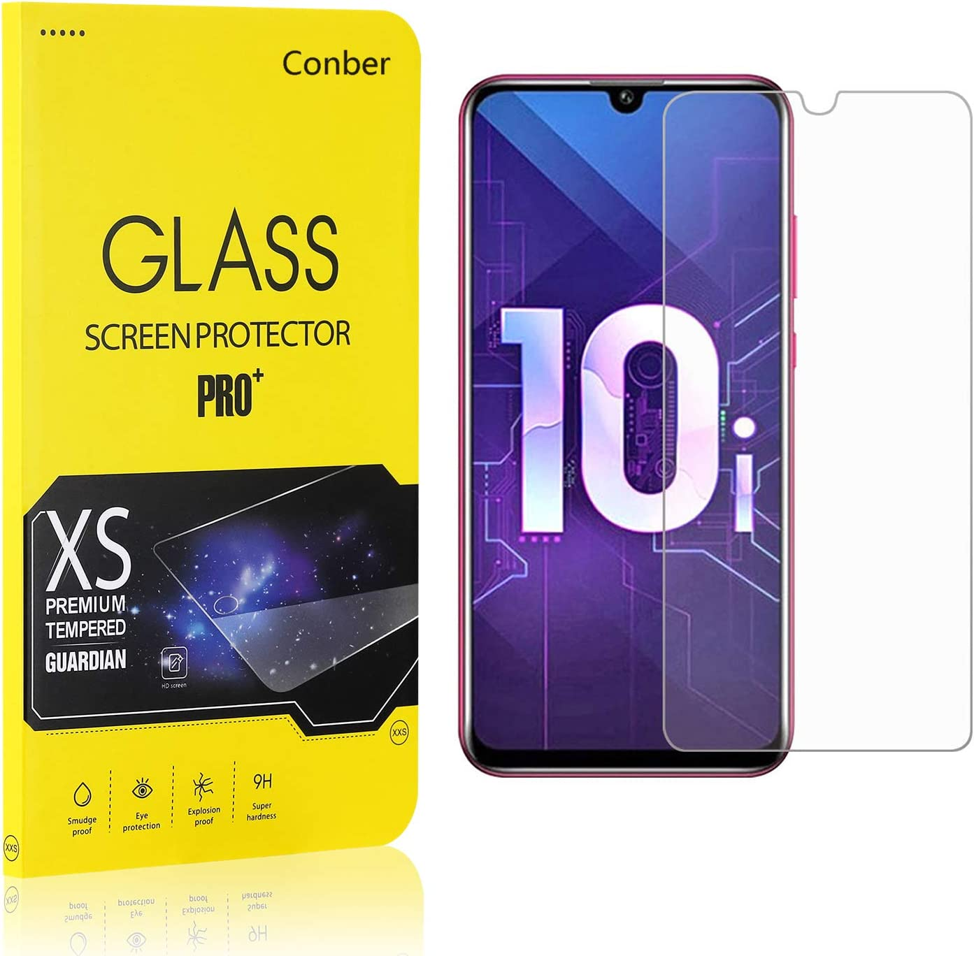 Protection /écran pour Huawei Honor 10I // Honor 10 Lite//P Smart Plus 2019 // P Smart 2019 4 Pi/èces Conber Verre Tremp/é pour Huawei Honor 10I // Honor 10 Lite//P Smart Plus 2019 // P Smart 2019