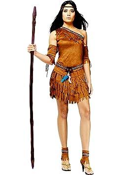 Disfraz de india mujer marrón S/M: Amazon.es: Juguetes y juegos