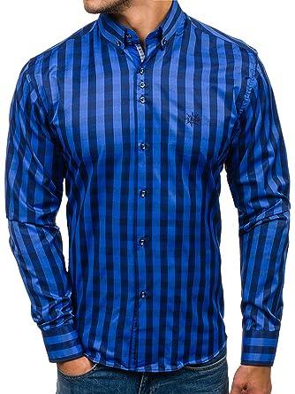 BOLF Langarm Herrenhemd Kariert Trachtenhemd Slim Fit 2B2 Mix  Amazon.de   Bekleidung 4b2e06f1e4