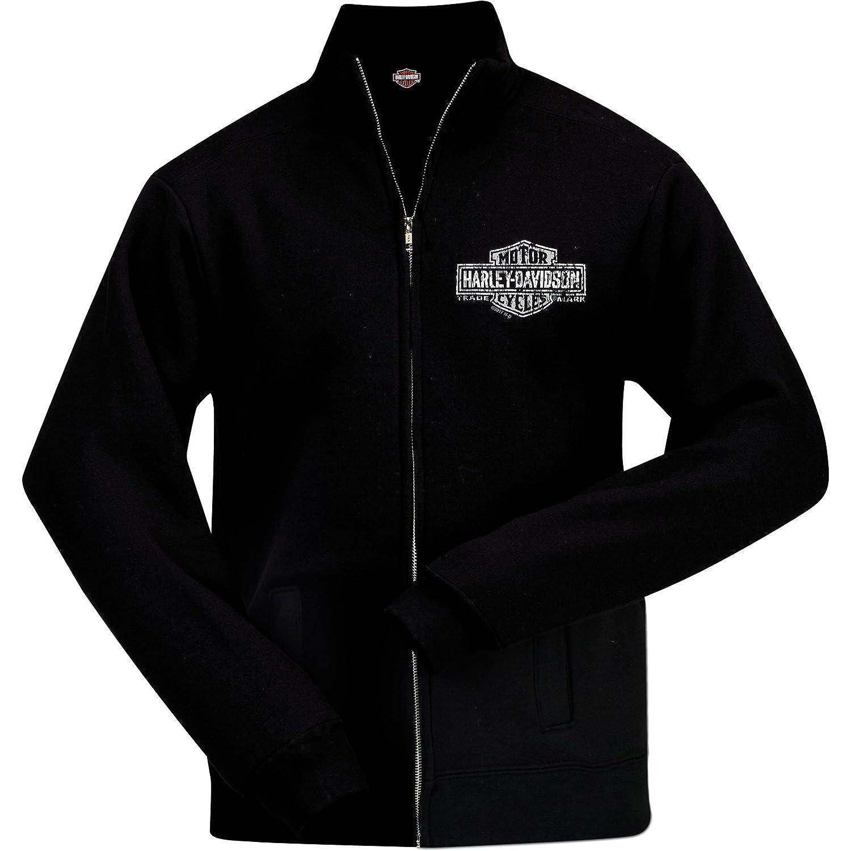 Overseas Tour Harley-Davidson Military Trade Mark Mens No Hood Zip Sweatjacket
