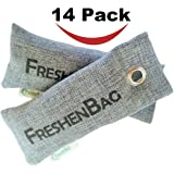 Freshenbag All Natural Air Freshener - Eco Friendly Odor Eliminator and Moisture Absorber - Activated Bamboo Charcoal  For Use As Shoe Deodorizer, Car Deodorizer, Pet Area, Closet or Room Air Purifier