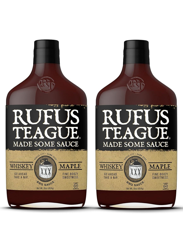 Rufus Teague WHISKEY MAPLE BBQ SAUCE – (2 Pack) 16oz Bottles