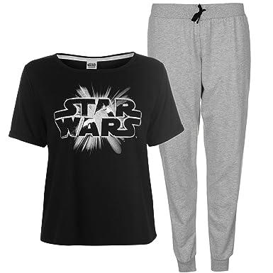 36eb3b300f Star Wars PJ s Pyjama s Ladies Movie Film Clothing Nightwear Top and Bottom Womens  Set (Black