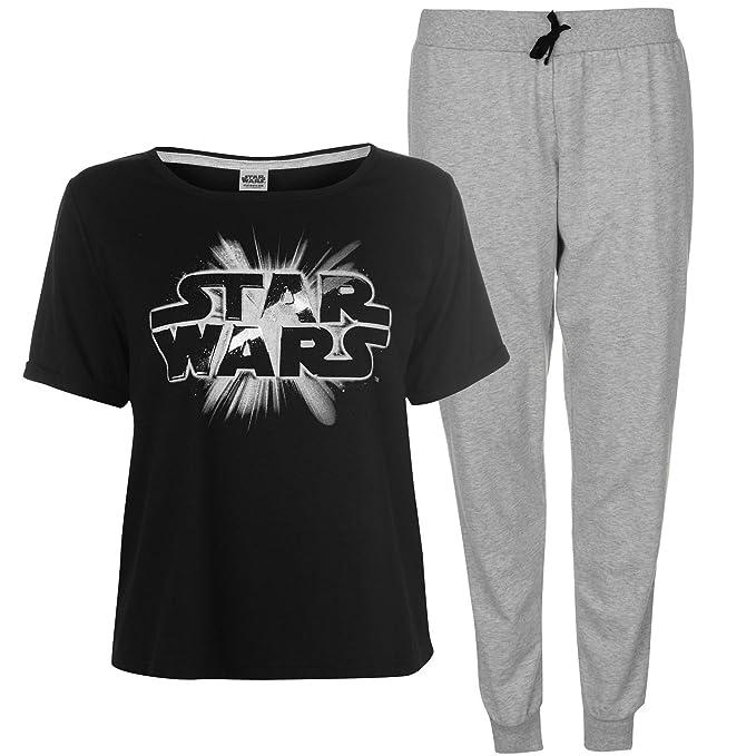 Star Wars by Disney - Pijama - para mujer Negro negro/gris L