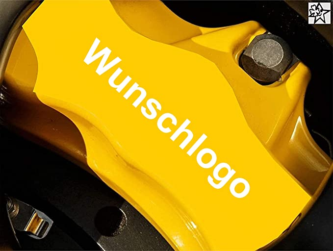 Myrockshirt Wunschlogo Wunschname Fahne 4 X Bremsenaufkleber Bremsen Aufkleber Bremssattel Hitzebeständig Auto