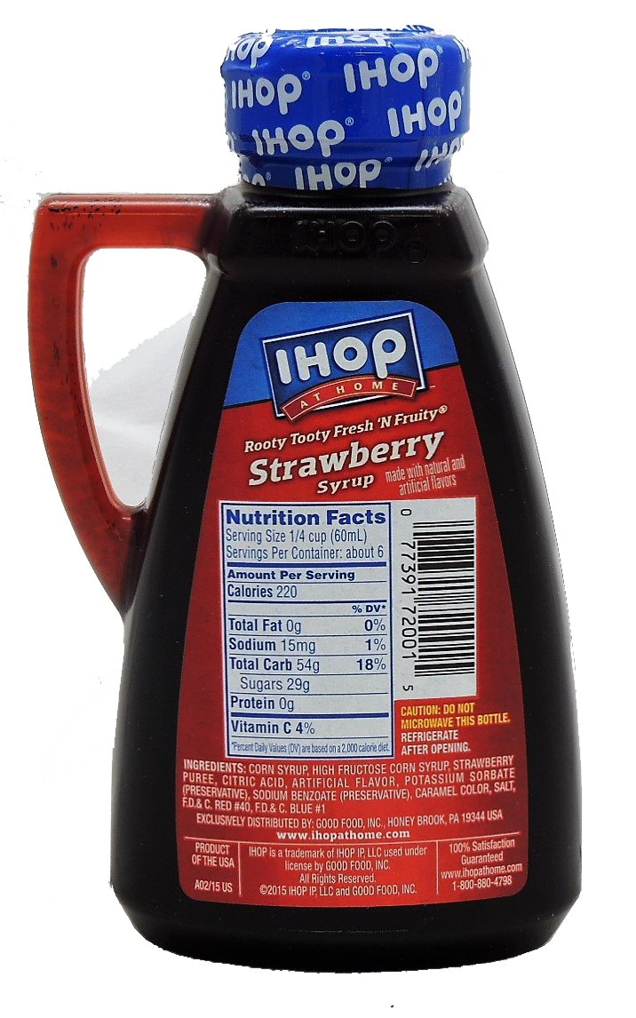 amazon com ihop at home strawberry syrup 12oz grocery