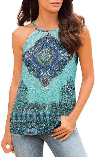Women/'s Summer Cross Back Sleeveless Tops Vest Beach Casual Loose T Shirt Blouse