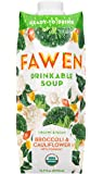 Ready to Drink Chilled Organic Vegan Superfood Vegetable & Coconut Soup, Broccoli & Cauliflower with Turmeric, Unsweetened, Low Fat, Dairy-Free, 16 Vitamins and Minerals (16.9 FL OZ)
