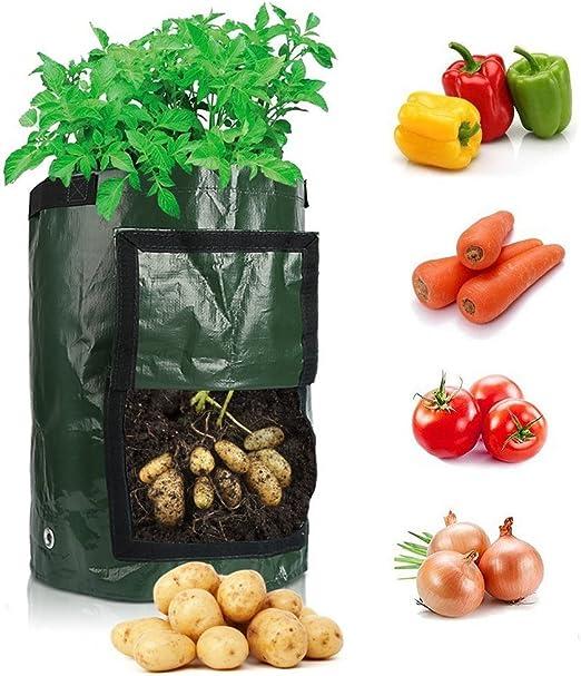 Goodlifestay Bolsas de Cultivo de Patata, 10 galones, para Jardín ...