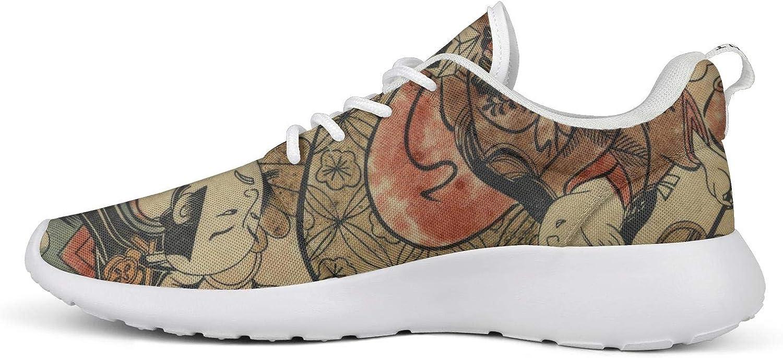Womens Lady Men Japanese Ukiyo Art Canvas Light Basketball Shoes Casual Shoes Sneakers