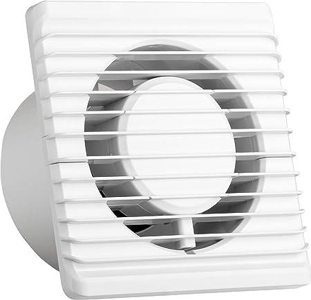 Ventilateur universel avec clapet anti retour Ø 100mm10cm pour salle de bain et cuisine, faible consommation d'énergie 8 W, fonctionnement silencieux