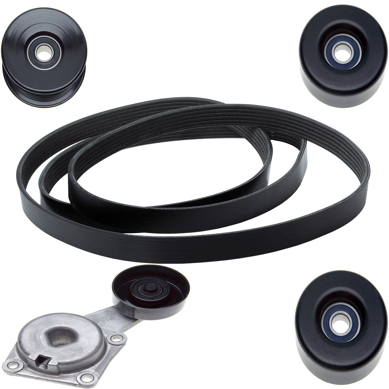 Pulleys and Belt ACDelco ACK061031 Professional Automatic Belt Tensioner and Pulley Kit with Tensioner