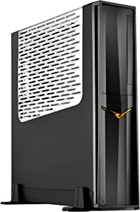 SilverStone Technology SST-RVZ02B-W-USA Slim Gaming Computer Case for Mini-Itx Motherboards with Full Size GPU Support with Window RVZ02B-W Cases