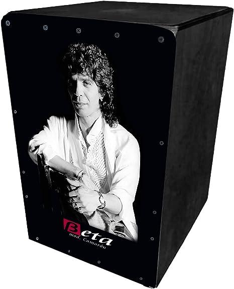 BETA - Mod. Camaron (negro) | Cajón flamenco de percusión. Caja tamaño estándar (adultos) personalizada fabricada 100% en abedul (sonido semiprofesional): Amazon.es: Instrumentos musicales