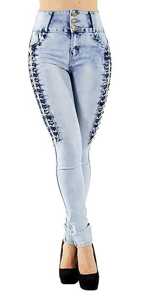 Colombian Design Butt Lift Push Up Mid/High Waist Skinny Denim Jeans (ML2)