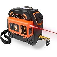Laser Mètre à Ruban 2 en 1, Tacklife TM-L01, Laser 40m, Ruban à Mesurer 5m, Autobloquant, Crochet Actif, Double Photosensible, Mesure Continue, Calibrage Réglable, Écran Rétro-éclairage