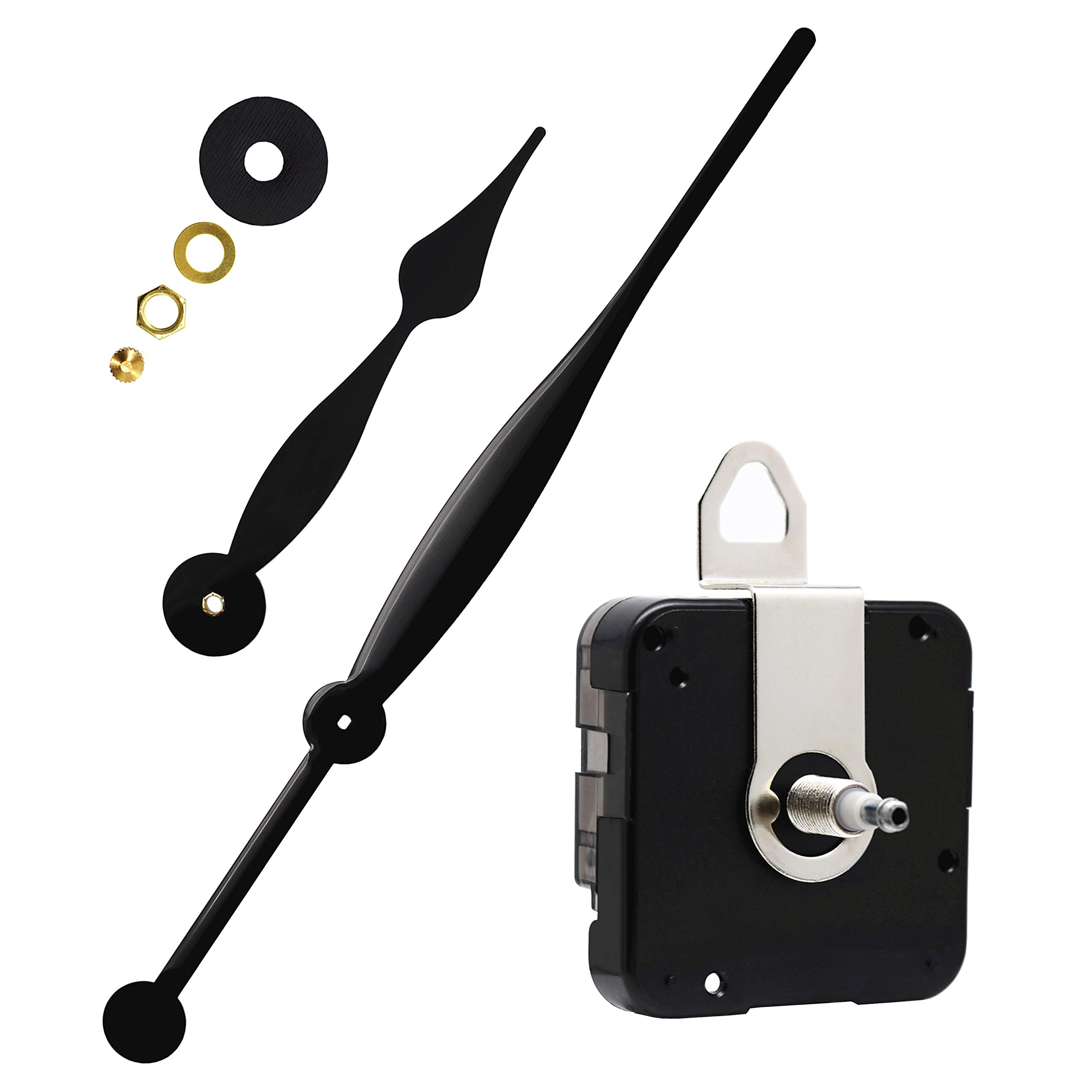Youngtown 12888 High Torque Quartz Clock Movement Replacement Parts with 350 mm/ 13.78 Inches Long Spade Hands