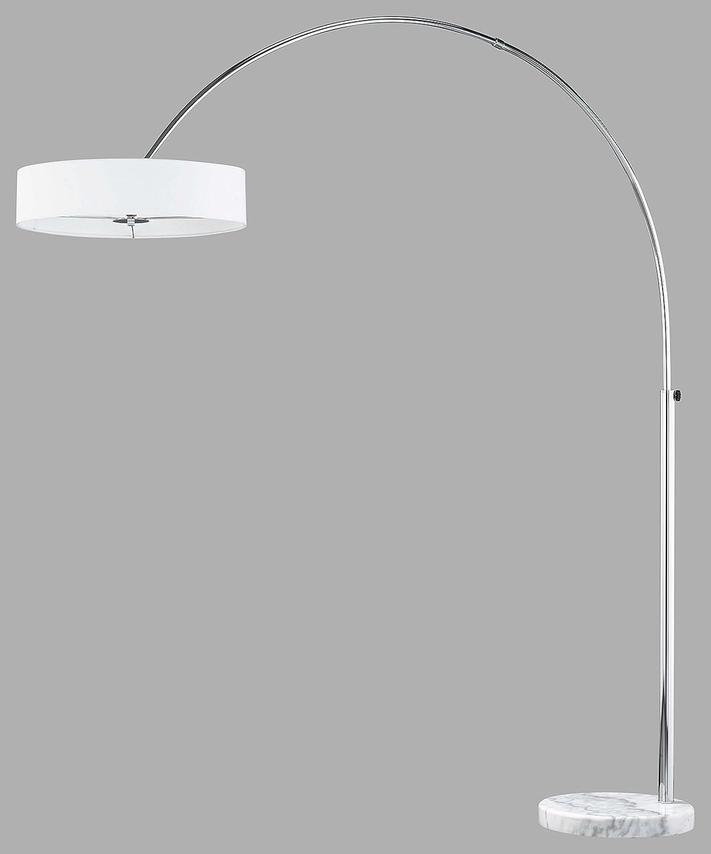 Trio Lighting 421100301 Perez - Lámpara de pie para interior con 3 luces, G9, Halógeno, 28 W, 370 lm, color blanco