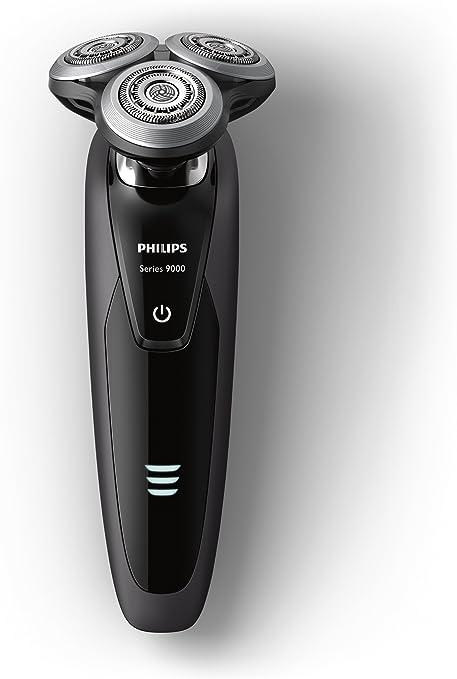Philips Serie 9000 S9031/12 - Máquina de afeitar con cabezales de 8 direcciones, uso en seco/húmedo, 50 min de batería, incluye recortador de precisión y funda de viaje, negro: Philips: Amazon.es: Salud