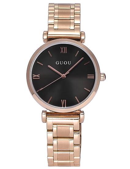 AMPM24 WK1240 Reloj Mujer de Acero Inoxidable Oro Rosa: Amazon.es: Relojes