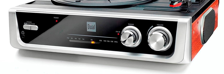Dual DTR 50 Tocadiscos con Altavoces (Antena, 3,5 mm Jack ...