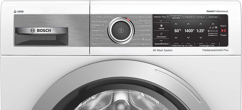 Bosch WAV28E41 Homeprofessional - lavadora frontal A+++/ 152 kWh/año / 1400 rpm / 9 kg/blanco/I-Dos / 4D Wash System/Homeconnect: Amazon.es: Grandes electrodomésticos