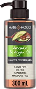 Hair Food Sulfate Free Conditioner Dye Free Smoothing Treatment Argan Oil and Avocado, 300ml