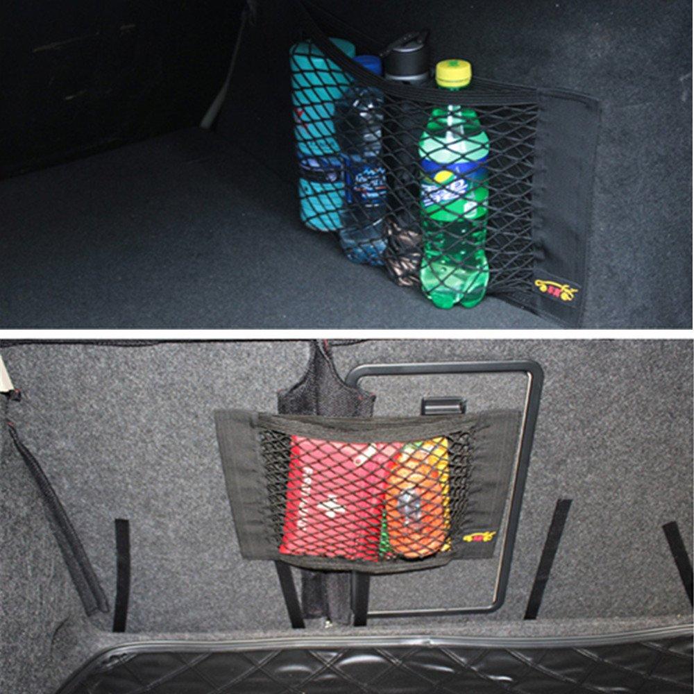 Tuqiang ZGY Auto R/ücksitz Organizer Netz Tasche mit Klebeband f/ür Autositz Aufbewahrung Ablage PKW KFZ 40 x 25cm