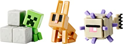 Minecraft Mini Figure 3-Pack, Elder Guardian, Sneaky Creeper & Rabbit by Mattel: Amazon.es: Juguetes y juegos