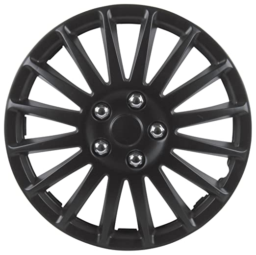 Unitec 7517 Suzuka - Tapacubos (4 unidades), color negro: Amazon.es: Coche y moto