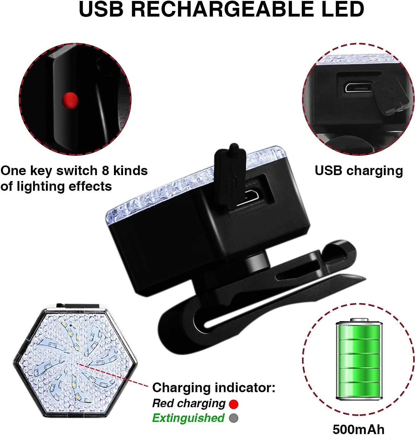 USB Rechargeable Windmill Bicycle Light Front and Back Combo Camping Yofidra Led Bike Light Set Outdoor IPX4 Waterproof /& 8 Light Modes Windmill Style Cycle Lights Perfect for Cycling