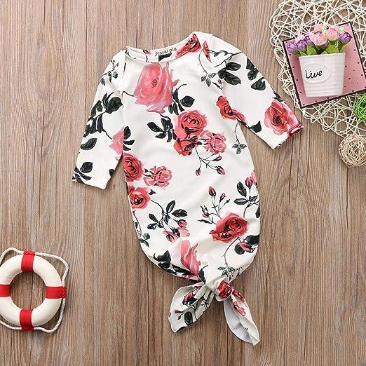 YHLZBNH Newborn Baby Boy Girl Swaddle Wrap Blanket Nightgown Gown Set Take Home Outfit Sleeping Bag Romper Headband