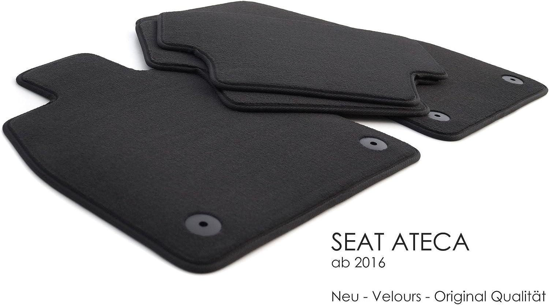 Kh Teile Fussmatten Passend Für Ateca Premium Qualität Velours Autofußmatten 4 Teilig Schwarz Auto