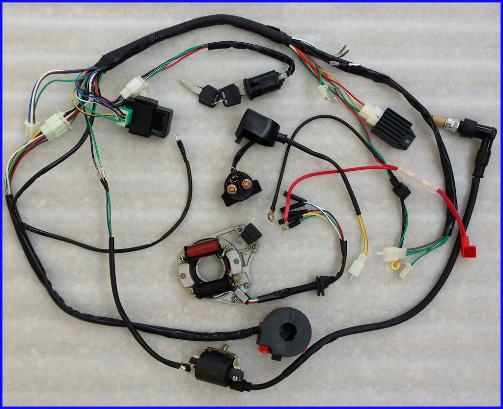 Amazon.com: 50cc 70cc 110cc ATV QUAD FULL ELECTRICS CDI COIL RECTIFIER WIRING  HARNESS: Automotive